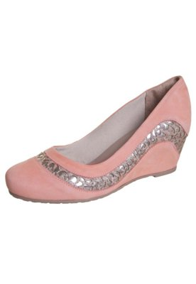 Sapato Scarpin Dakota Anabela Detalhe Vazado Rosa