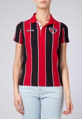 Camisa Polo Reebok São Paulo Tricolor Listra
