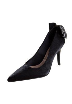 Sapato Scarpin Vizzano Laço Traseiro Preto