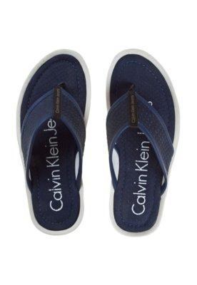 Chinelo Calvin Klein Textura Azul