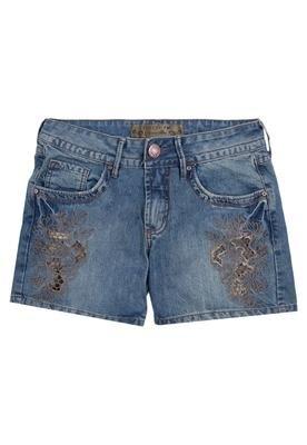 Bermuda Jeans Daria Bordado Azul - Colcci