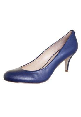 Sapato Scarpin Jorge Bischoff Salto Médio Bico Redondo Azul