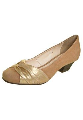 Sapato Scarpin Bottero Nó Salto Baixo Marrom
