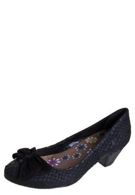 Sapato Scarpin Salto Baixo Bottero Laço Preto