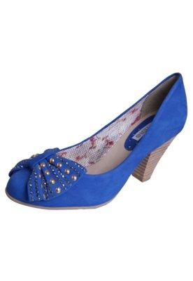 Sapato Scarpin Bottero Salto Médio Laço Hotfix Azul