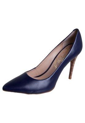 Sapato Scarpin Lilly's Closet Bico Fino Salto Alto Azul