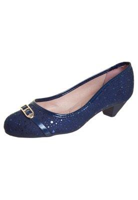 Sapato Scarpin Moleca Fivela Azul