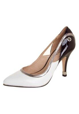 Sapato Scarpin Carmim Recortes Branco