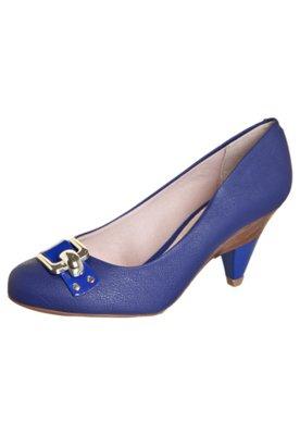 Sapato Scarpin Beira Rio Salto Diferenciado e Tira Azul