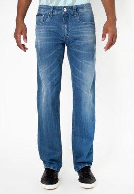 Calça Jeans Calvin Klein Jeans Reta Classic Use Azul