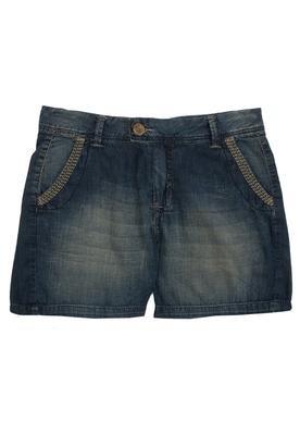 Bermuda Jeans Bordado Azul - Cantão