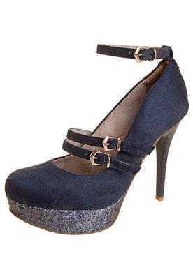 Sapato Scarpin Bebecê Paetê Azul
