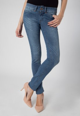 Calça Jeans Pink Connection Unic Skinny Azul