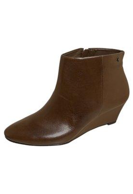 Ankle Boot Anabela Marrom - Capodarte