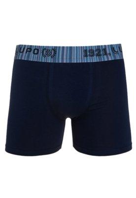 Cueca Boxer Lupo Brand Azul-Marinho