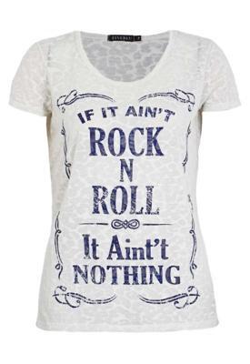 Blusa FiveBlu Rock and Roll Bege