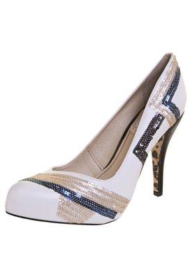 Sapato Scarpin Bordado Branco - Miucha