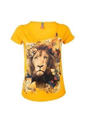 Blusa Boy Leão Amarela - Coca Cola Clothing