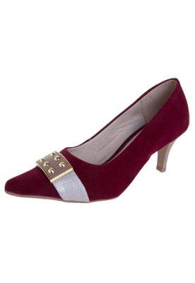 Sapato Scarpin Anna Flynn Six Vinho