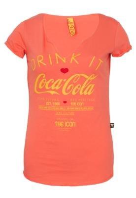 Blusa Slim Drink Laranja - Coca Cola Clothing