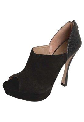 Ankle Boot Salto Prada Like Preta - Tabita