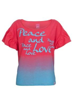 Blusa Pink Connection Peace and Love Rosa