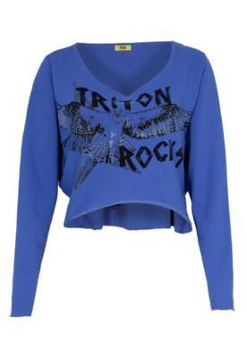 Blusa Triton Ampla Águia Azul