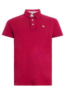 Camisa Polo Acostamento Bordado Vermelha