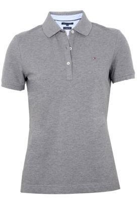 Camisa Polo Tommy Hilfiger Basic Cinza