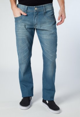 Calça Jeans Pier Nine Reta Estonada Azul