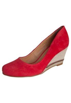 Sapato Scarpin Bottero Anabela Baixa Vermelho