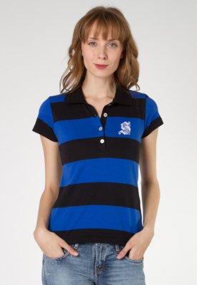 Camisa Polo Anna Flynn SPace Listrada - Anna Flynn Casual