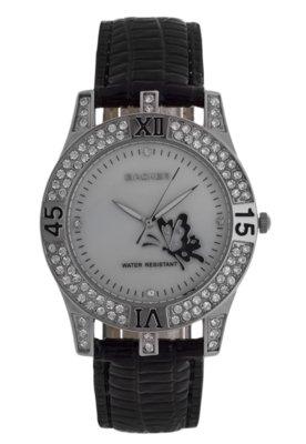 Relógio 1650122F Preto/Prata - Backer