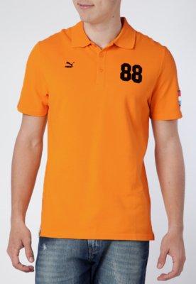Camisa Polo Puma Football Archives T7 SS Laranja