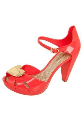 Sandália Petite Jolie Meia Pata Laço Glitter Vermelha