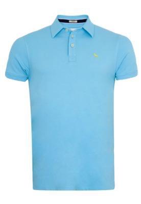 Camisa Polo Acostamento Lobo Azul
