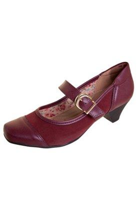 Sapato Scarpin Anna Flynn Shine Vinho