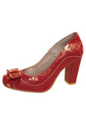 Sapato Scarpin Anna Flynn Laço Duplo Vermelho