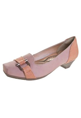 Sapato Scarpin Confortflex Salto Baixo Fivela Rosa - Comfort...