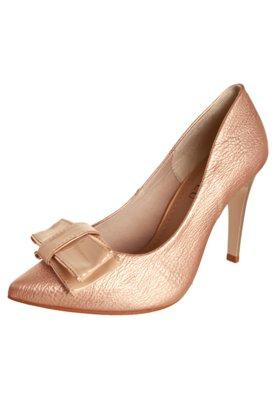 Sapato Scarpin Laço Duplo Metalizado Rosa - FiveBlu