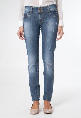 Calça Jeans Sawary Reta Lambs Azul