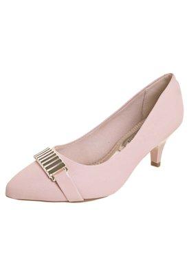 Sapato Scarpin Beira Rio Tira com Ferragem Rosa