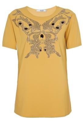 Blusa Jeweled Amarela - Mares M&Guia