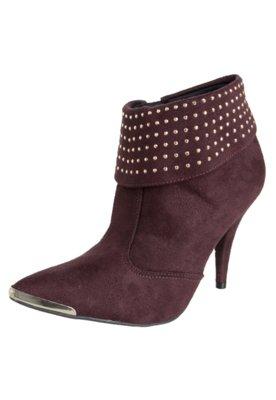 Ankle Boot Crysalis Dobra Hotfix Vinho
