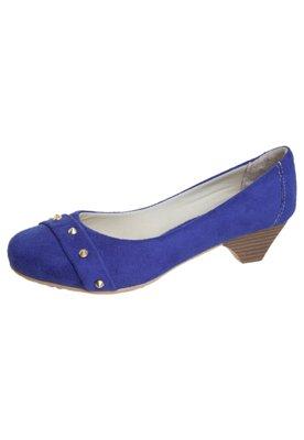 Sapato Scarpin Anna Flynn Rebites Azul