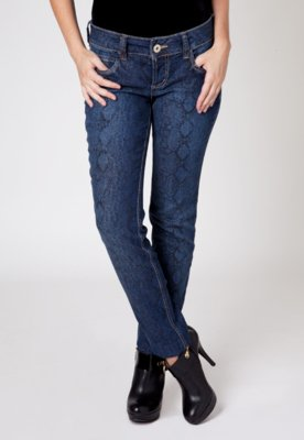 Calça Jeans Colcci Animal Print Azul