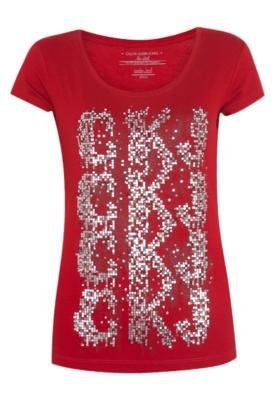 Blusa Paetês Vermelha - Calvin Klein Jeans
