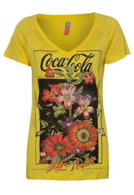 Blusa Coca-Cola Confort Flowers Amarela - Coca Cola Clothing