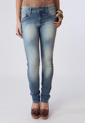 Calça Jeans Coca Cola Clothing Lola Bordada Azul