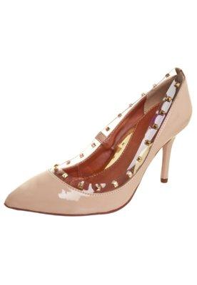 Sapato Scarpin Pink Connection Tachas Nude
